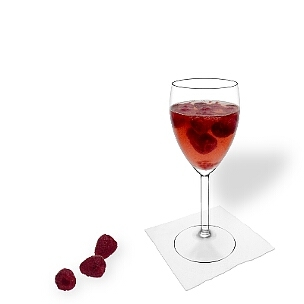 All kind of wine glasses are ideal for Raspberry punch.