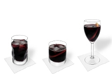 Different Red Wine and Coke decorations