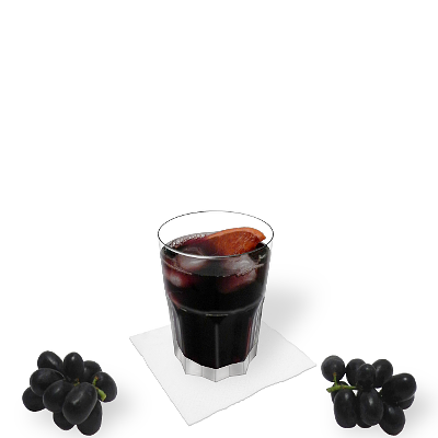 Red wine Coke with individual decoration