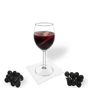 Sangria is red wine and orange juice with fruit pieces soaked in alcohol.