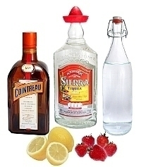 Strawberry Margarita ingredients: With Fresh Strawberries (standard)