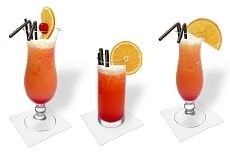 Different Tequila Sunrise decorations