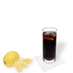 Whiskey and Coke served in a long-drink glass, a great option to present that delicious drink.