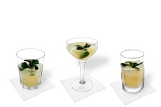 Different Whiskey Sour decorations