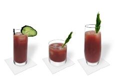Verschiedene Bloody Mary Dekorationen